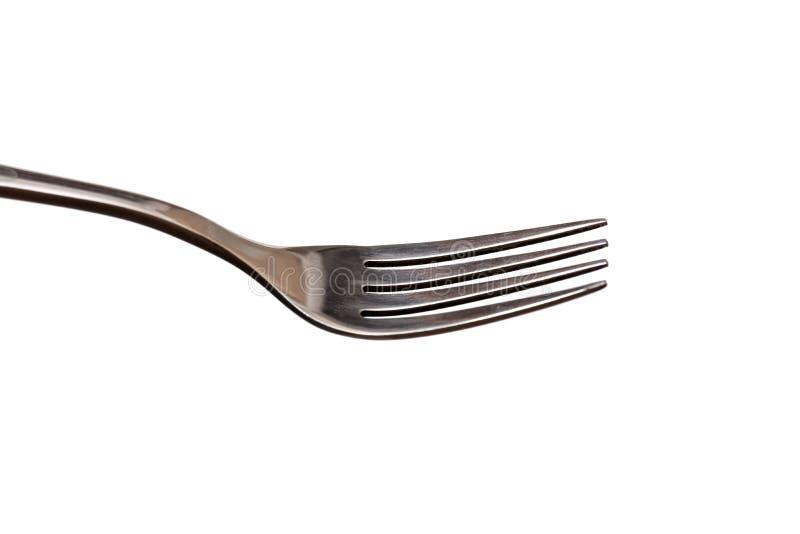 Fourchette de dîner en métal photo stock