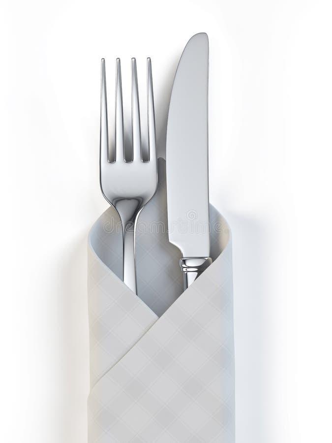Fourchette et couteau illustration stock