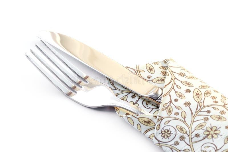 Fourchette et couteau. photos libres de droits