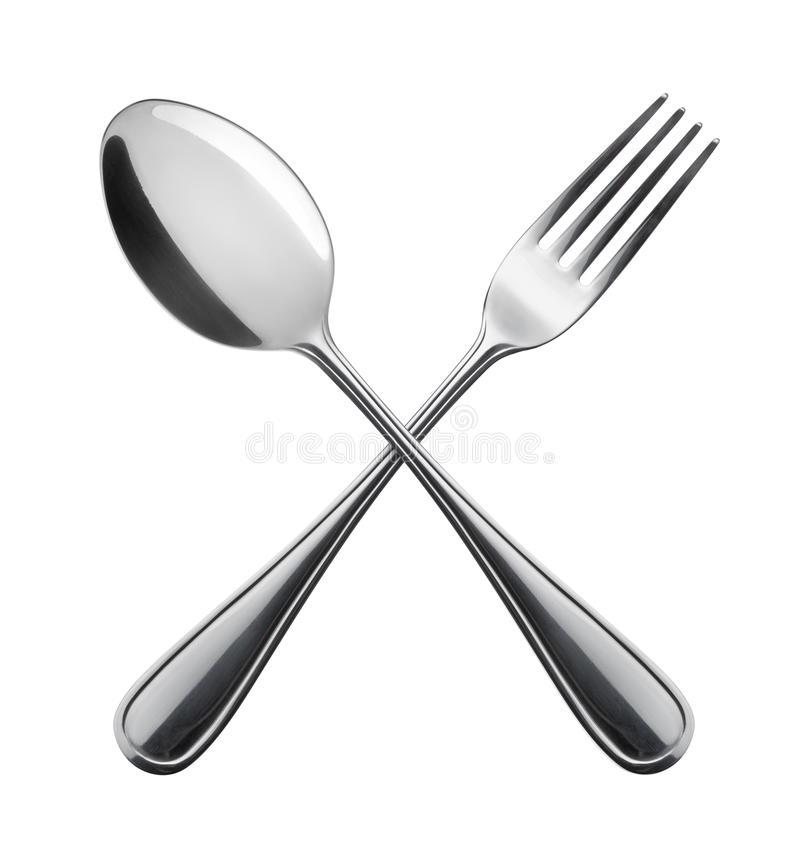 Fourchette et cuillère. photos libres de droits