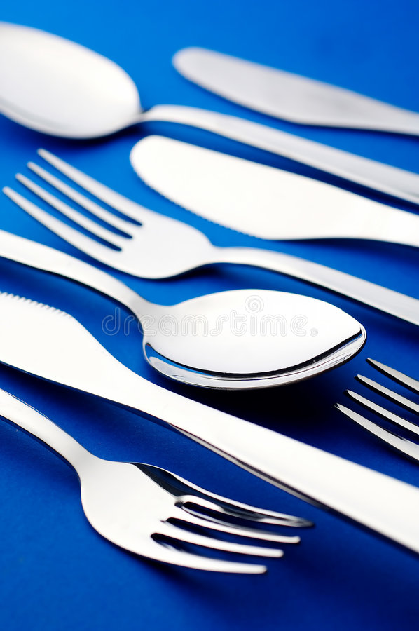Fourchette et cuillère de couteau photographie stock