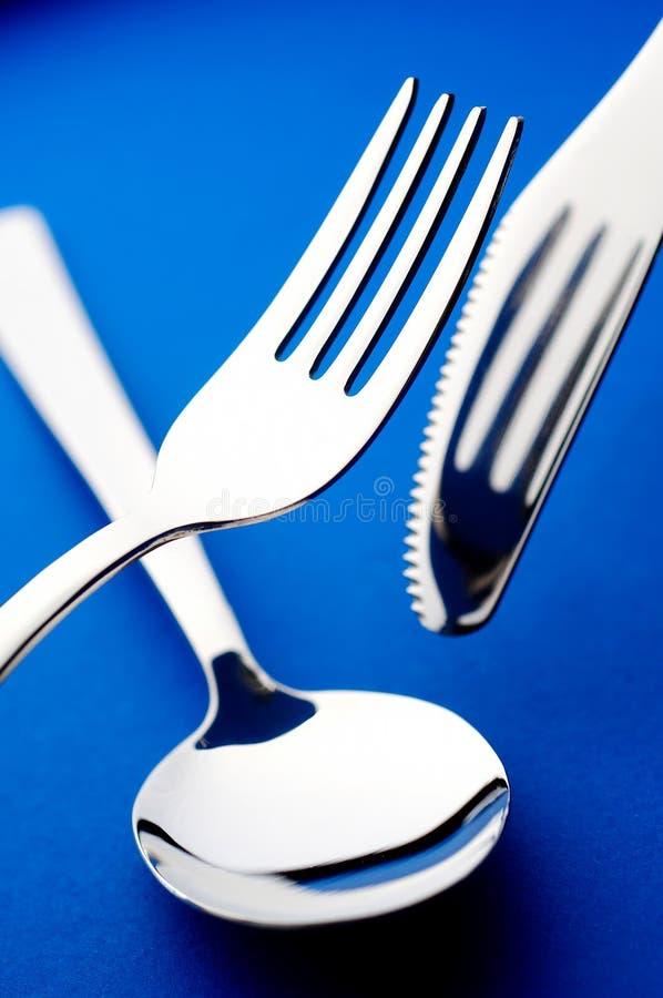 Fourchette et cuillère de couteau image libre de droits