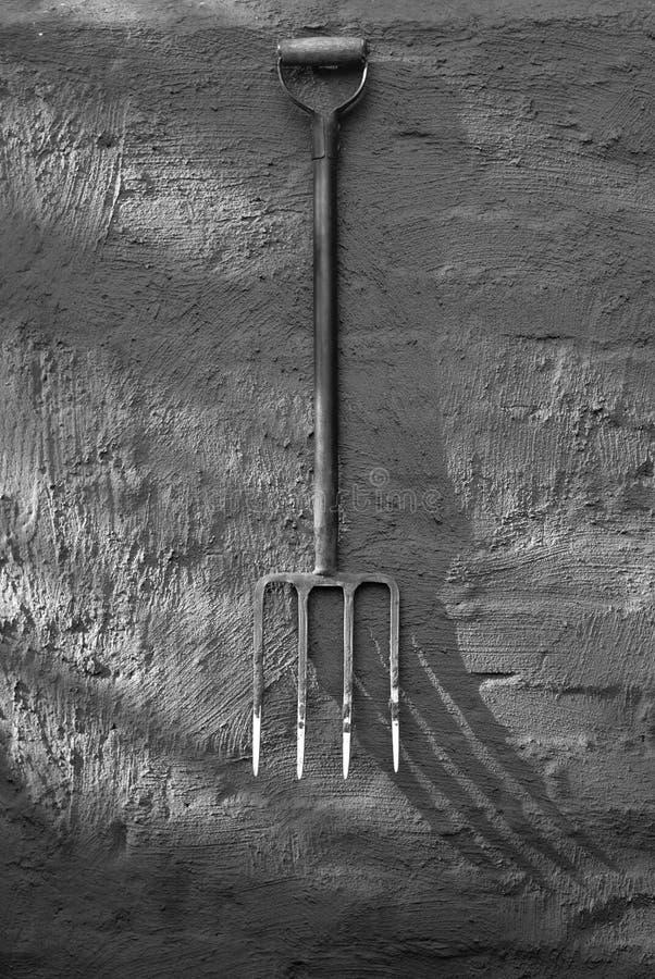 Fourchette et ombre de jardin photos stock