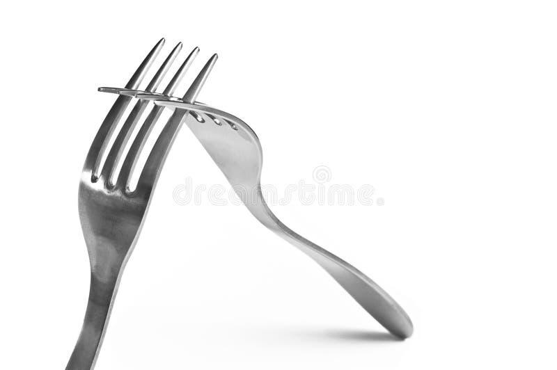 Fourchettes de coopération photos stock