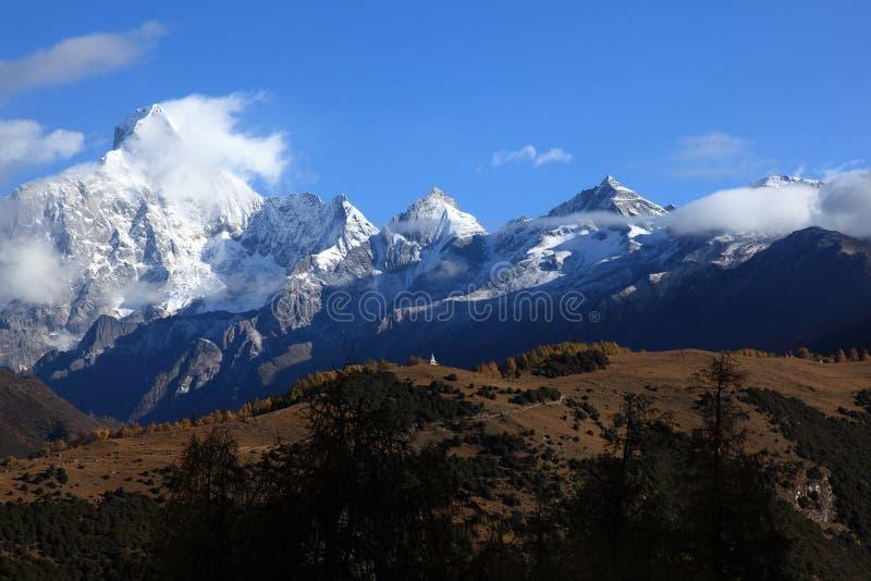 Fourgirls mountains stock photo