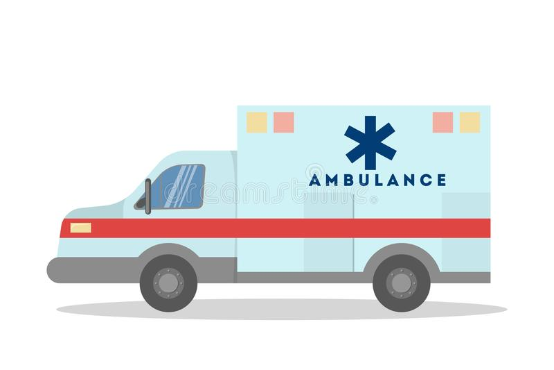 Fourgon d'isolement d'ambulance illustration stock