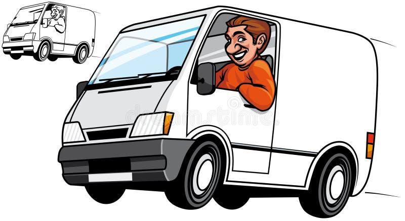 Fourgon de distribution illustration de vecteur