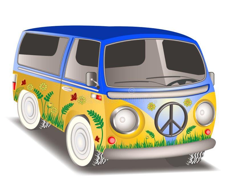 Fourgon de Hippie illustration de vecteur