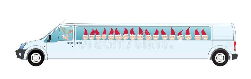 Fourgon de Noël illustration libre de droits