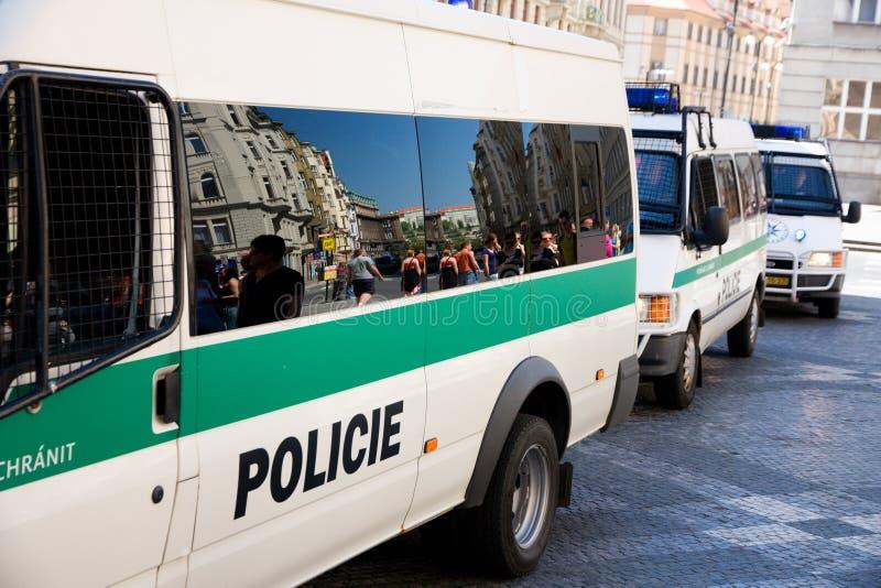 Fourgon de police images libres de droits