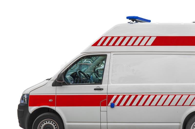 Fourgon de service d'ambulance isplated sur le blanc photos libres de droits