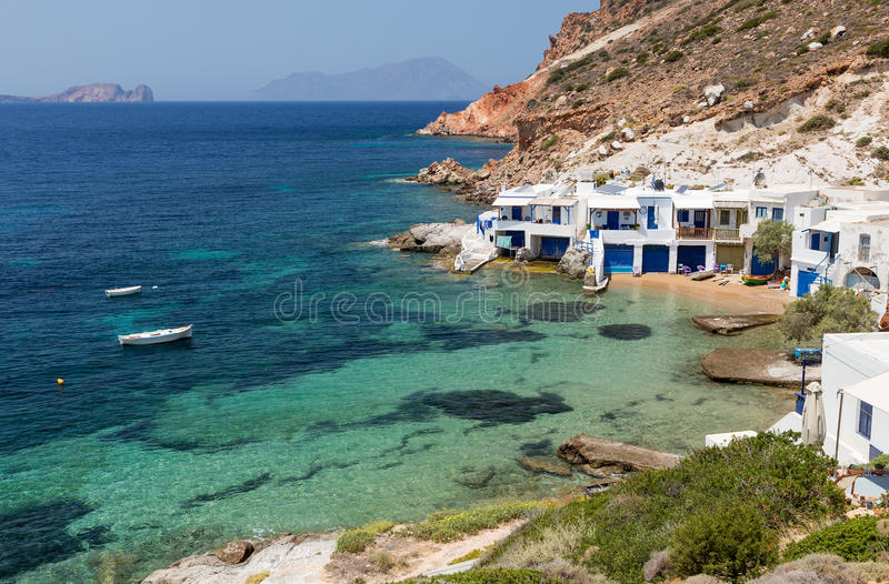 Fourkovouni Milos ö, Cyclades, Grekland royaltyfri bild