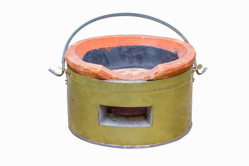 fourneau de charbon de bois pour la cuisson traditionnelle image stock image du rouill po le. Black Bedroom Furniture Sets. Home Design Ideas