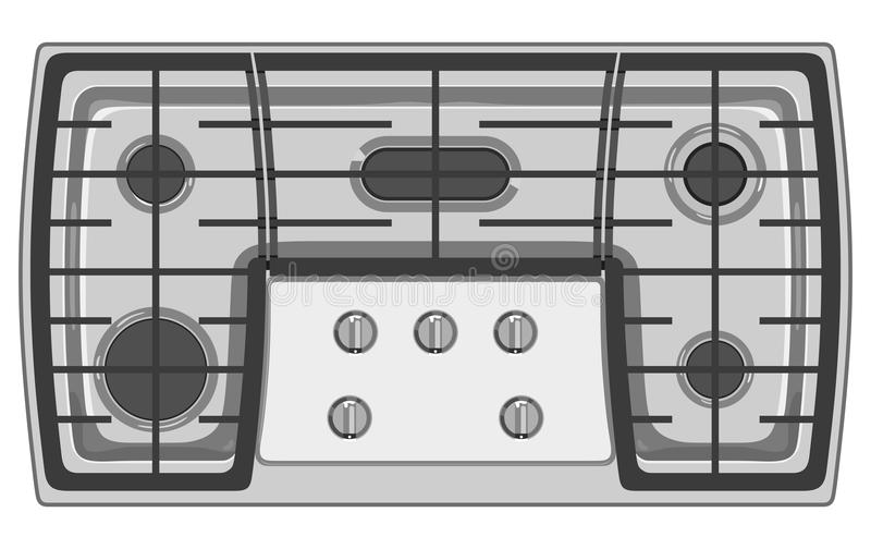 Fourneau gris illustration stock