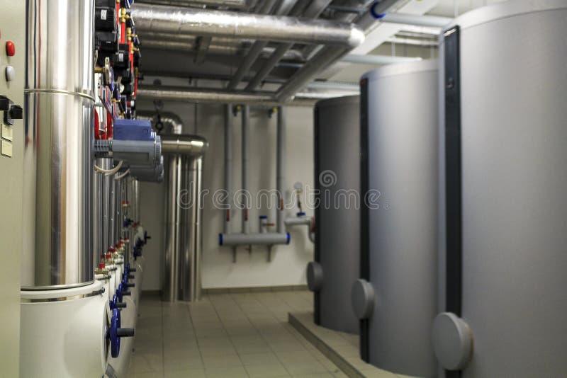 Fourneaux de chauffage et infrastructure de tuyau photos libres de droits