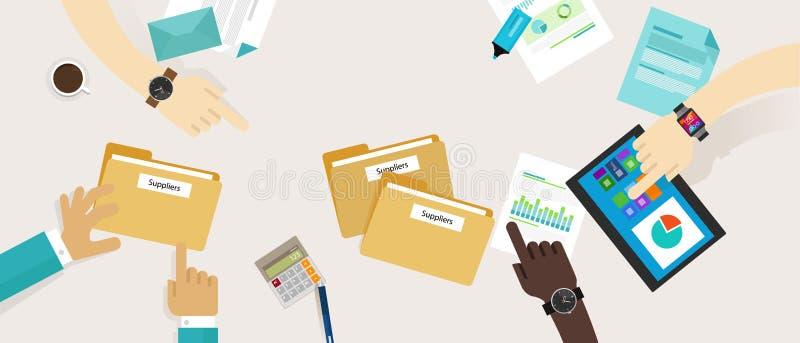 Fourniture achetant le processus de gestion de fournisseur illustration libre de droits