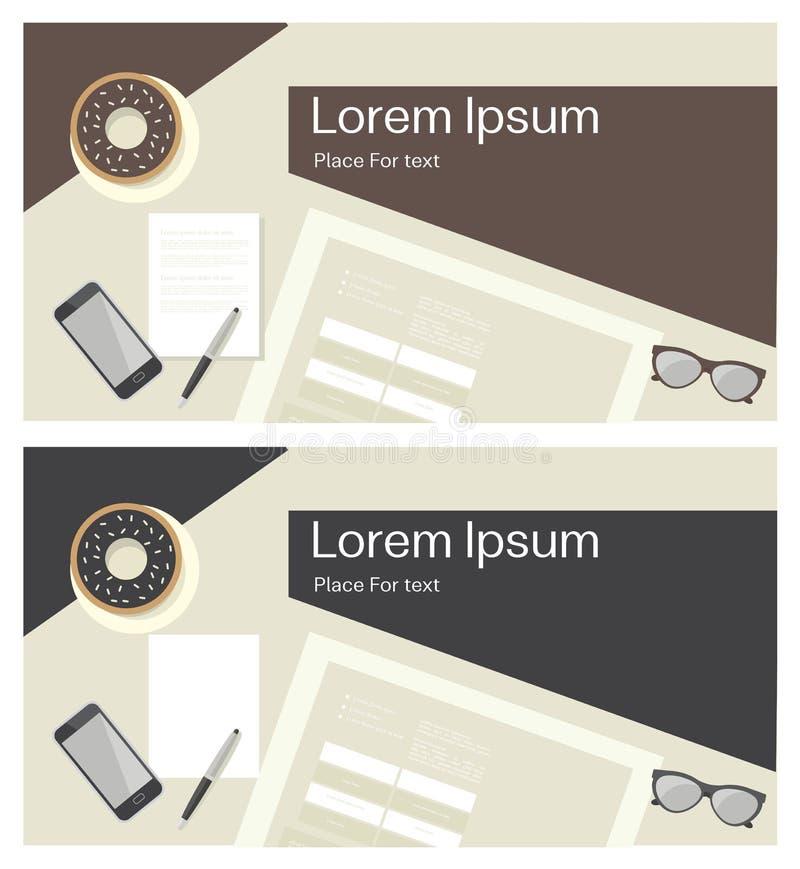 Download Fournitures de bureau Fond illustration de vecteur. Illustration du brun - 56486485