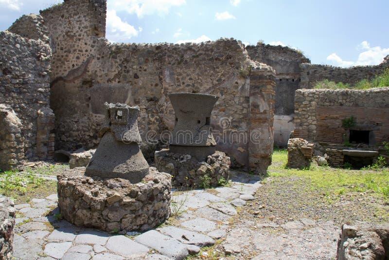 Fours à cuisine de Pompeii photographie stock libre de droits