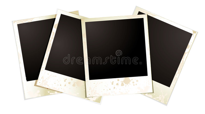 foursome polaroid ilustracji