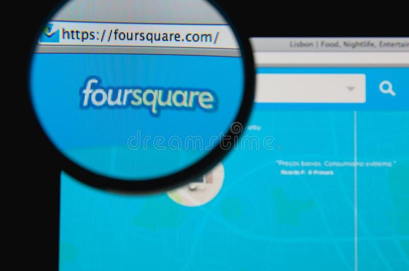 Foursquare lizenzfreies stockbild
