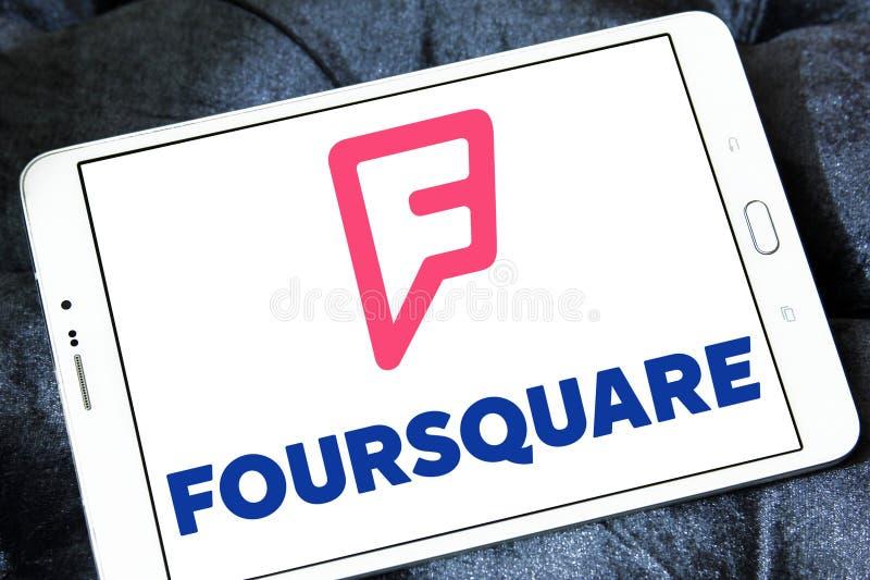 Foursquare APP-Logo stockbilder