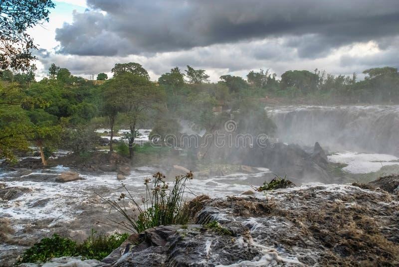 Fourteen Falls Thika Kenya Africa. Fourteen Falls Waterfall Thika Kenya Africa royalty free stock photo