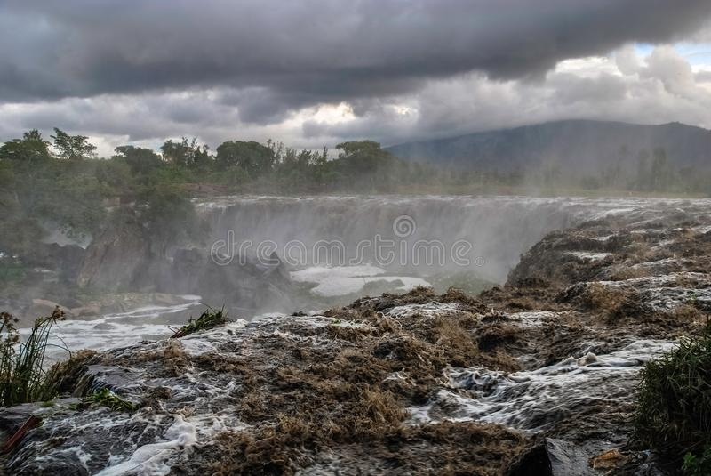Fourteen Falls Thika Kenya Africa. Fourteen Falls Waterfall Thika Kenya Africa stock image