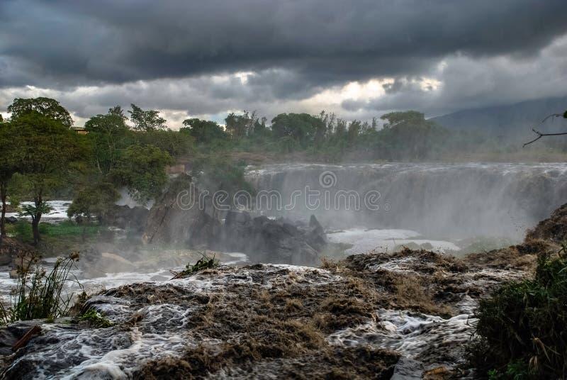 Fourteen Falls Thika Kenya Africa. Fourteen Falls waterfall Thika Kenya Africa stock photo
