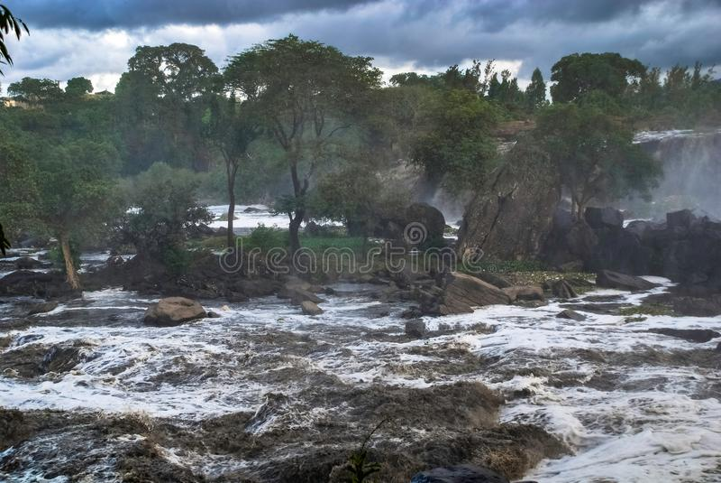 Fourteen Falls Thika Kenya Africa. Fourteen Falls waterfall Thika Kenya Africa royalty free stock image
