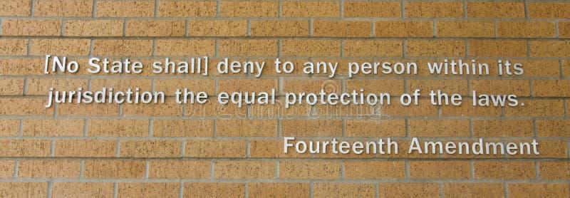 Fourteenth poprawka zdjęcia royalty free