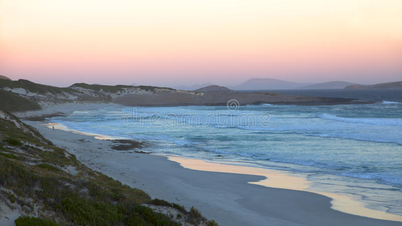 Fourth Beach. Twilight at Fourth Beach, near the town of Esperance in Western Australia stock images