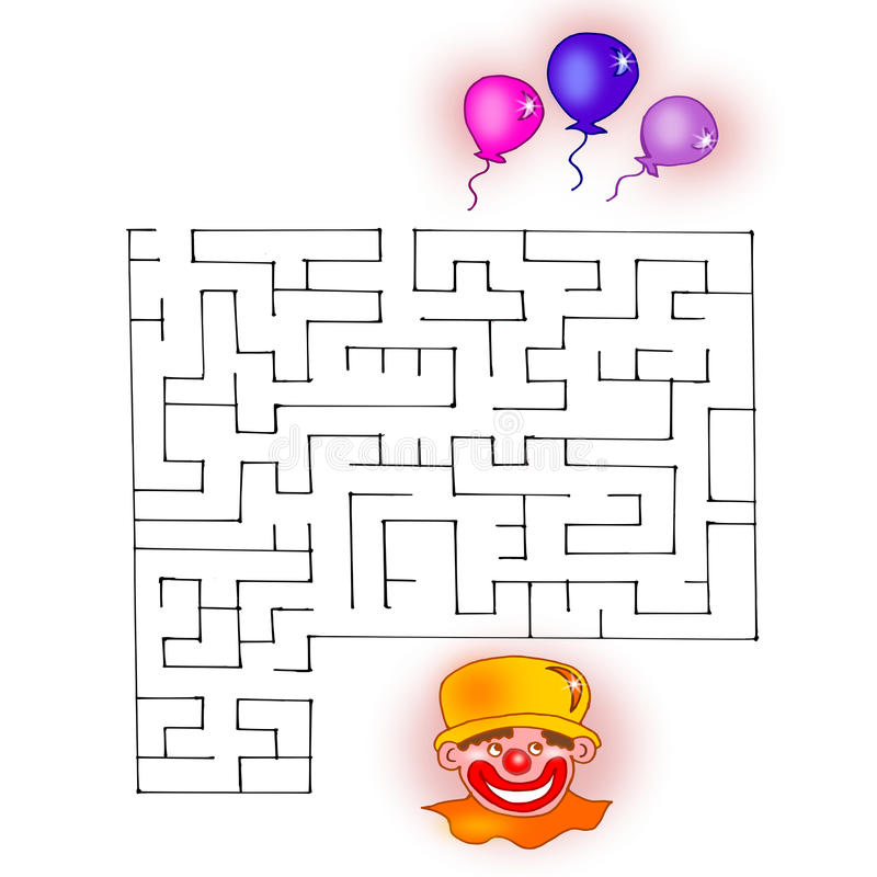 The fourth game, the path of the clown royalty free illustration