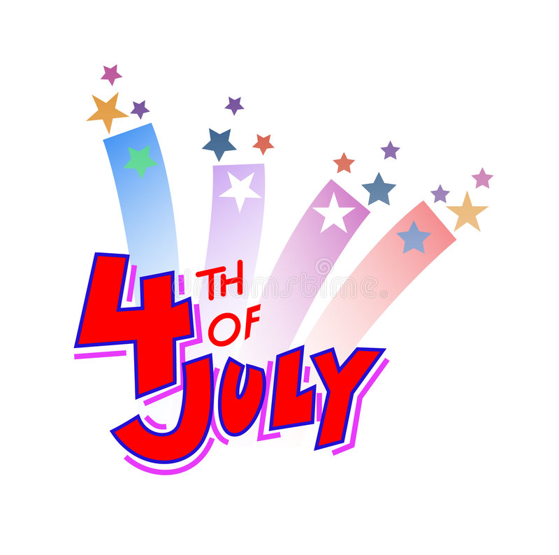 Fourth of July 2. Happy 4th of July. Hurray royalty free illustration