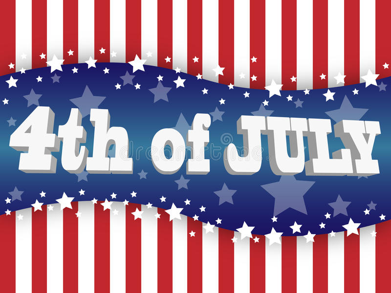 The fourth of july. Independence day vector illustration