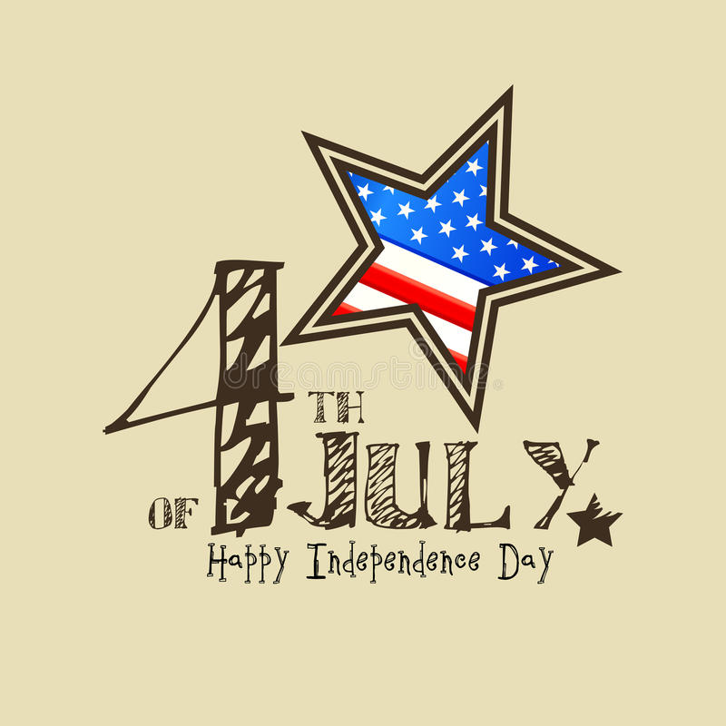 Fourth of July American Independence Day. Background for Fourth of July American Independence Day royalty free illustration