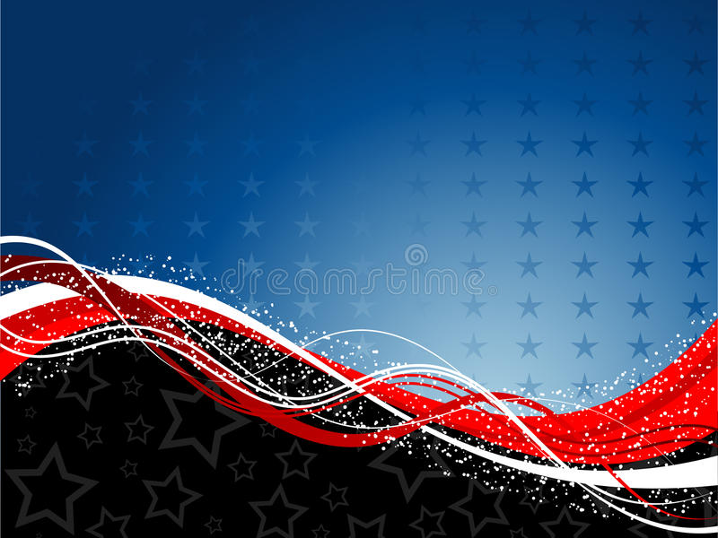 Fourth of July background royalty free illustration