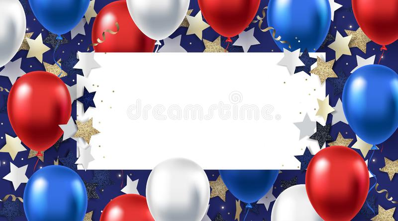 Fourth of July background. American Independence Day vector illustration stock illustration