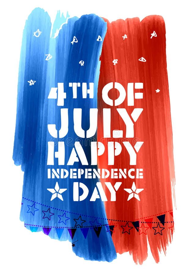 Fourth of July background for Happy Independence Day America stock illustration