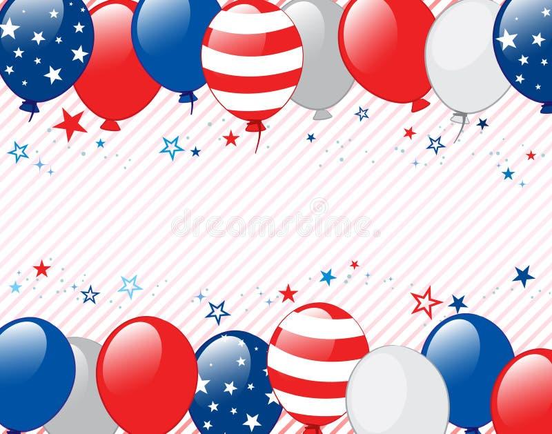 Fourth of july background. Vector illustration of Fourth of july background. Objects are layered stock illustration