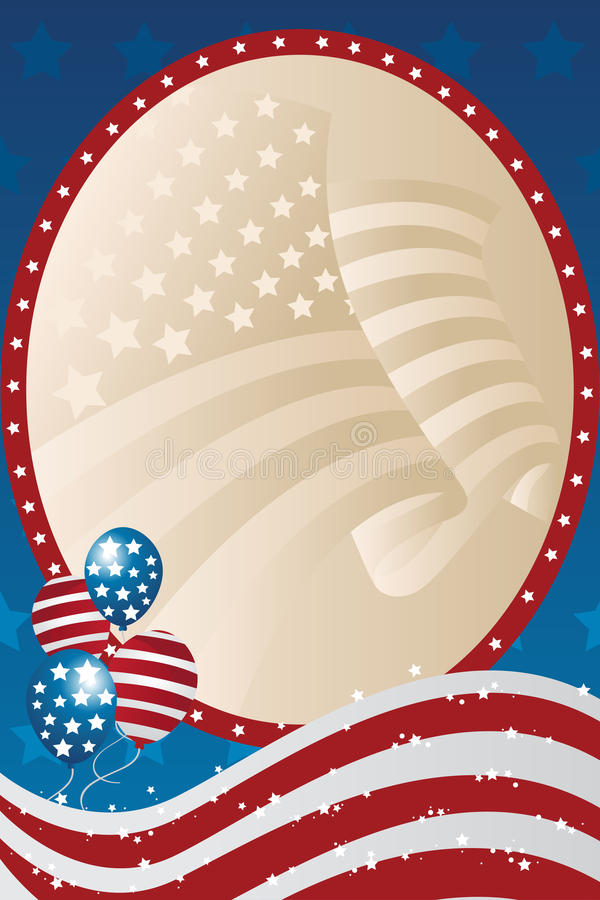 Fourth of July banner. A illustration of a fourth of July banner vector illustration