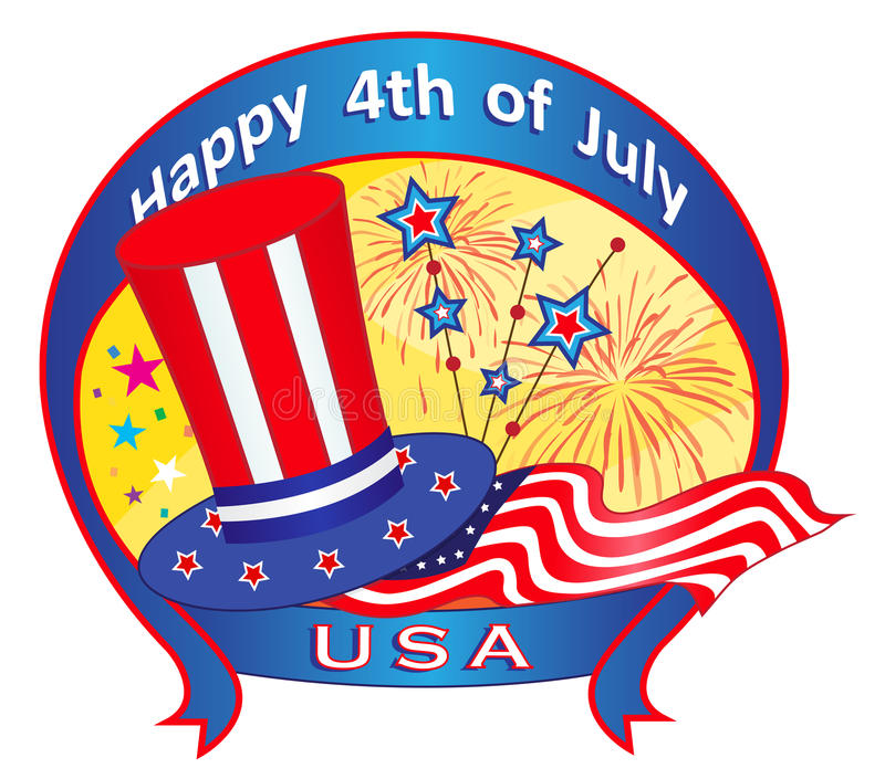 Download Fourth of July Banner stock vector. Image of holiday - 40838409