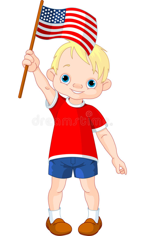Download Fourth of July boy stock vector. Illustration of american - 25039332