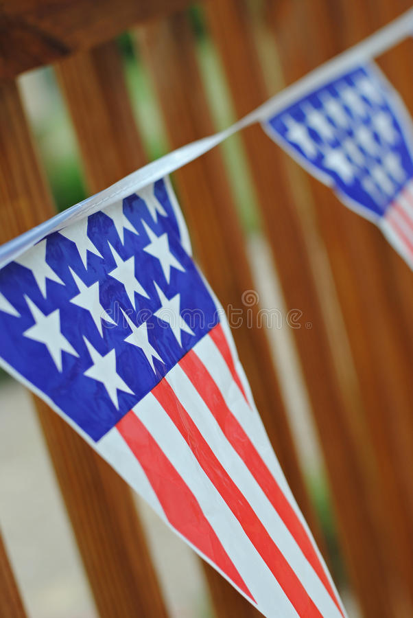 Fourth of July Bunting stock photo