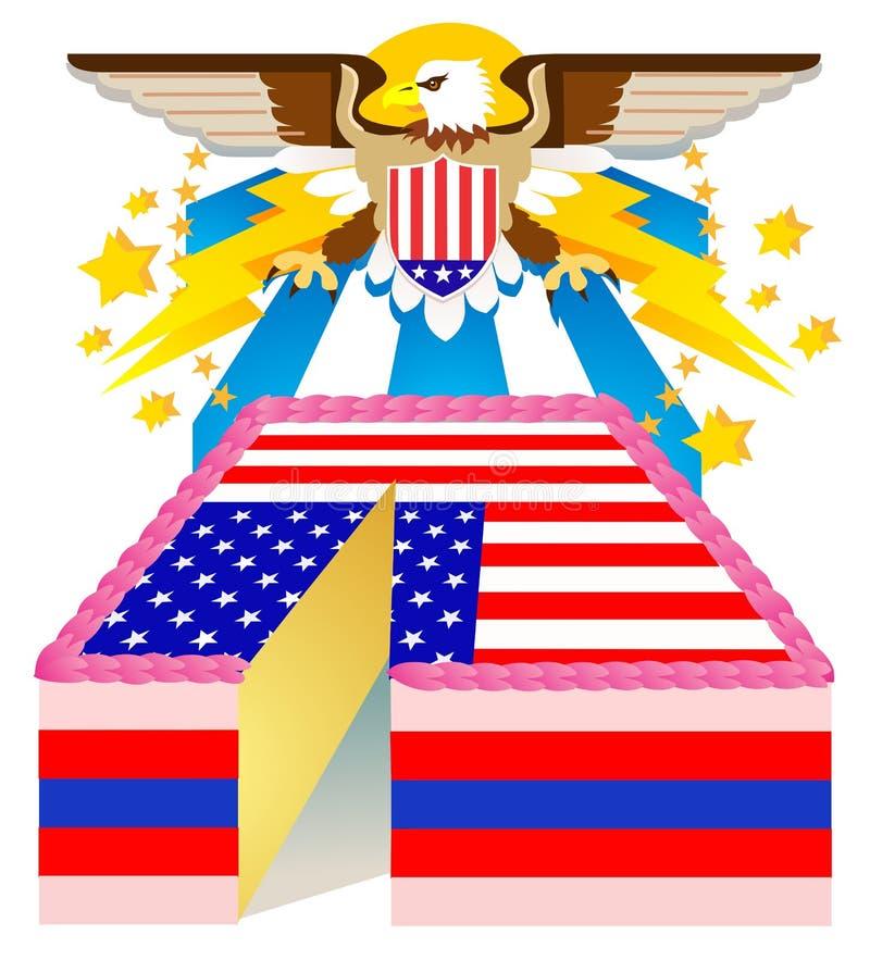 Fourth Of July Cake royalty free illustration