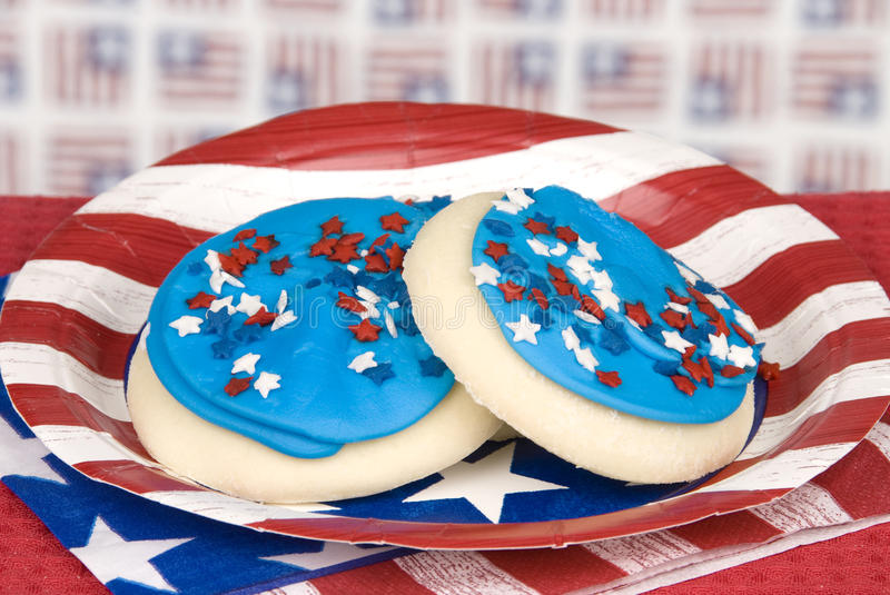 Fourth of July cookies stock photography