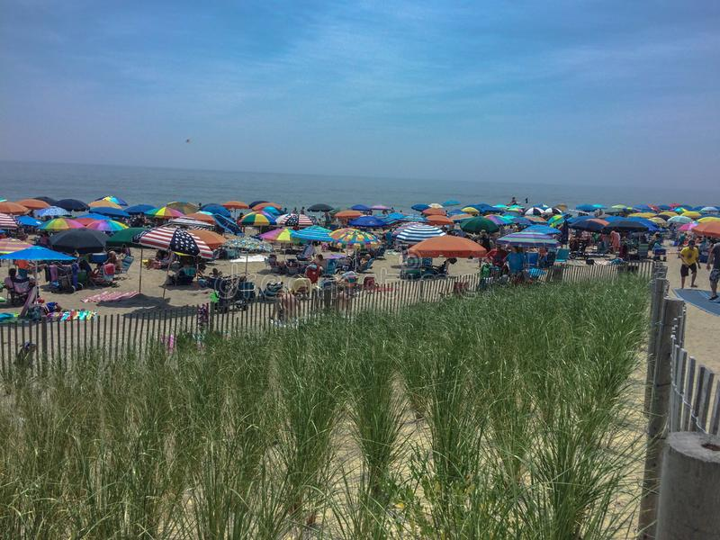 Fourth of July Crowds at Bethany Beach royalty free stock image