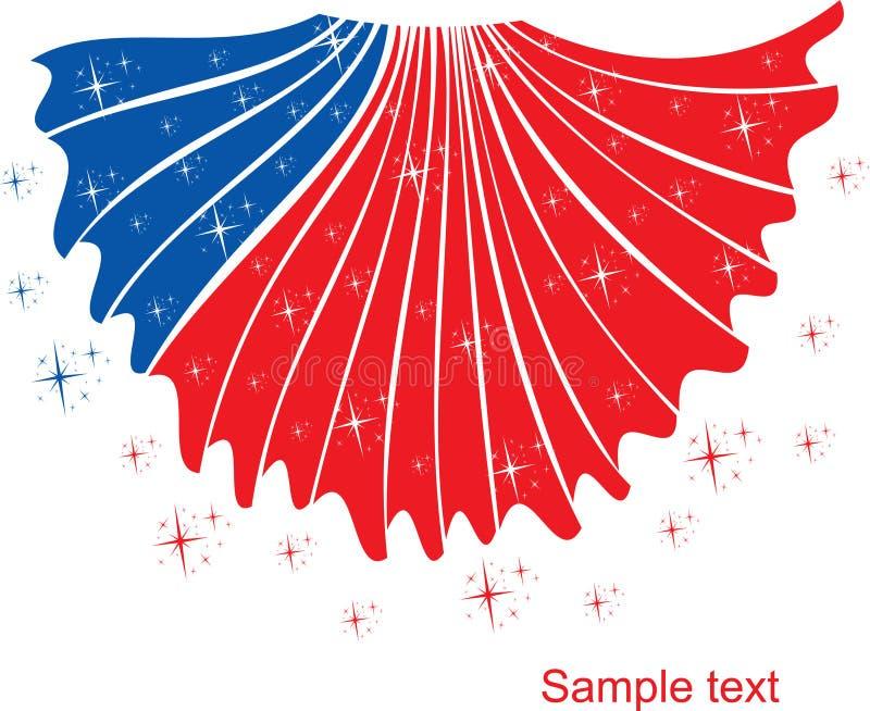 Fourth of July Design stock illustration