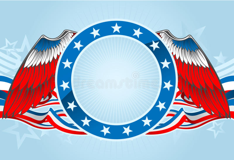 Download Fourth of july emblem stock vector. Image of blue, star - 19453378