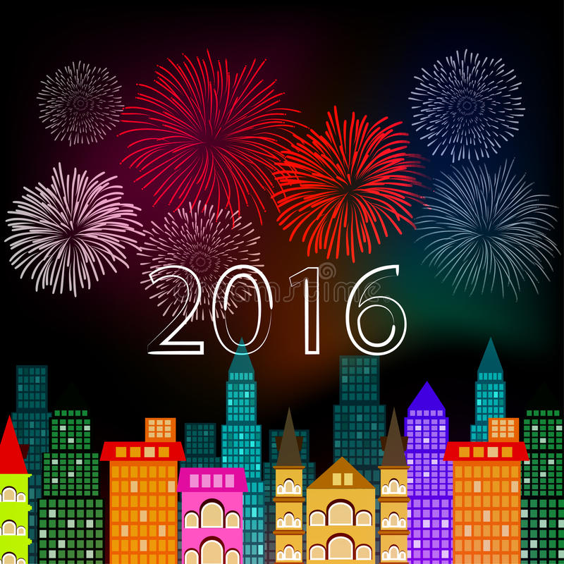 Fourth of July with firework Background. Vector royalty free illustration