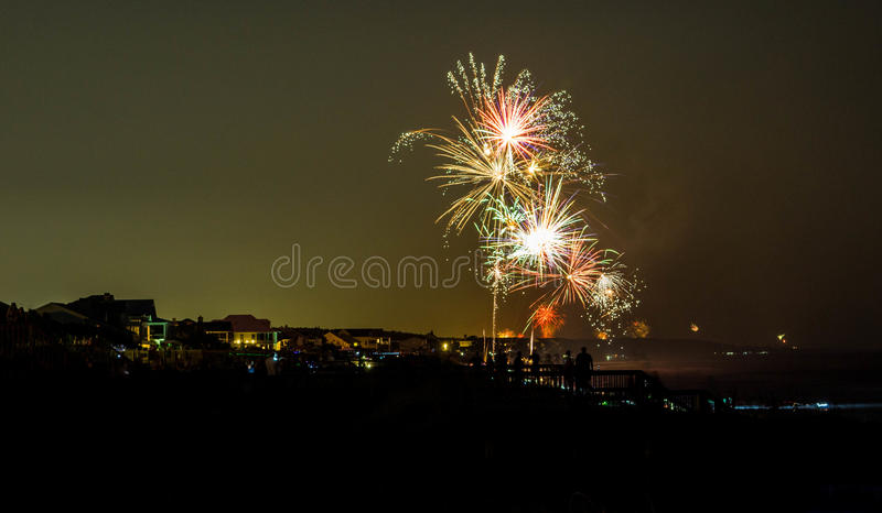 Fourth of july fireworks. On the grand strand, myrtle beach royalty free stock images